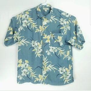 Tommy Bahama Mens Large Shirt 100% Silk Floral